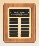 American Walnut Frame Perpetual Plaque 12 Plate Perpetual Plaques