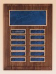 Solid American Walnut Perpetual Plaque 12 Plate Perpetual Plaques