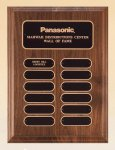 American Walnut Perpetual Plaque 12 Plate Perpetual Plaques