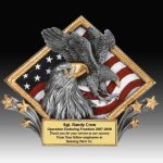 Eagle Diamond Resin Academic Trophies
