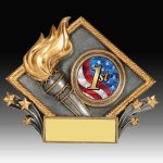 Victory Diamond Resin Academic Trophies