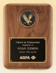 American Walnut Plaque with Eagle Medallion Achievement Awards