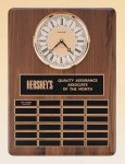 American Walnut Vertical Wall Clock / Perpetual Plaque Achievement Awards