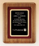 American Walnut Frame Plaque Achievement Awards
