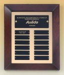 Cherry Finish Wood Frame Perpetual Plaque Achievement Awards