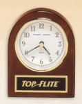 Rosewood Piano Finish Desk Clock Achievement Awards