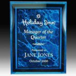 Blue Marble Look Acrylic Plaque Achievement Awards