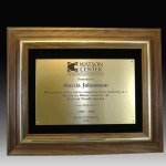 Walnut Frame Plaque Achievement Awards