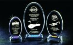 Beveled Oval Acrylic Award Achievement Awards