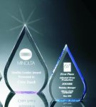 Beveled Teardrop Acrylic Award Achievement Awards
