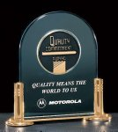 Jade Acrylic Award with Medallion Acrylic Awards Trophy