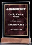 Acrylic Award with a Ruby Marble Center Acrylic Awards Trophy