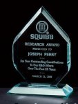 Thick Polished Diamond Acrylic Award Acrylic Awards Trophy
