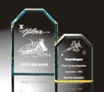 Beveled Clipped Corner Plaque Acrylic Awards Trophy