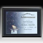 Glass Certificate Plaque Acrylic & Glass Plaques