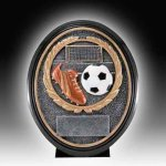 Resin Soccer Trophy Antique Silver Series