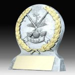 Resin Golf Trophy Antique Silver Series