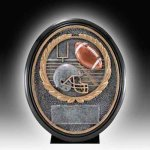 Resin Football Trophy Antique Silver Series