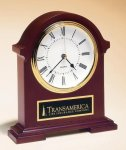 Napoleon Mantle Clock with Hand-rubbed Mahogany Finish Boss' Gifts