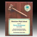 Gavel Plaque with Disc Insert Boss' Gifts
