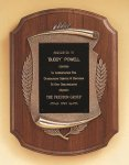 American Walnut Plaque with Antique Bronze Frame Contemporary Awards