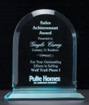 Arch Series Acrylic Award on Acrylic Base. Corporate Acrylic Awards Trophy