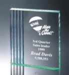 Fluted Side Acrylic Award Corporate Acrylic Awards Trophy