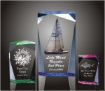 Faceted Rectangle Acrylic Award Corporate Acrylic Awards Trophy