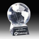 Spinning Crystal Globe Crystal Awards