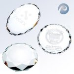 Gem-Cut Oval Paper Weight Crystal Paperweights