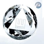 Slant Top Dome Paperweight Crystal Paperweights