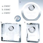 Optical Crystal Clocks Desk Clocks