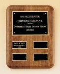 Solid American Walnut Quarterly Award Plaque Employee Awards