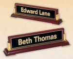 Rosewood Piano Finish Nameplate Employee Awards