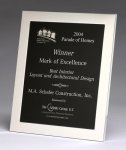 Polished Silver Aluminum Frame Plaque Employee Awards