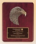 Antique Eagle Rosewood Piano Finish Plaque Employee Awards