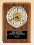 American Walnut Vertical Wall Clock. Employee Awards