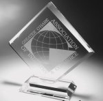Clear Diamond Acrylic Award Employee Awards