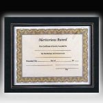 Leather Look Certificate Holder Employee Awards