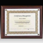 Screw Down Certificate Plaque Employee Awards