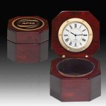 Captains or Desk  Clock - Piano Finish Employee Awards
