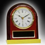 Piano Finish Desk Clock Employee Awards