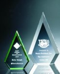 Beveled Peaks Acrylic Award Employee Awards