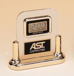 Acrylic Clock With LCD Movement Executive Gifts