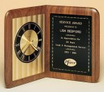 American Walnut Book Clock Executive Gifts