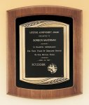 American Walnut Frame Plaque with Antique Bronze Frame Executive Plaques