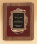 American Walnut Frame with Antique Bronze Casting Executive Plaques