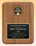 American Walnut Plaque with Medallion Executive Plaques