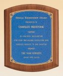 American Walnut Plaque with Linen Textured Plate Executive Plaques