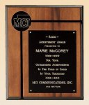 American Walnut Plaque Executive Plaques